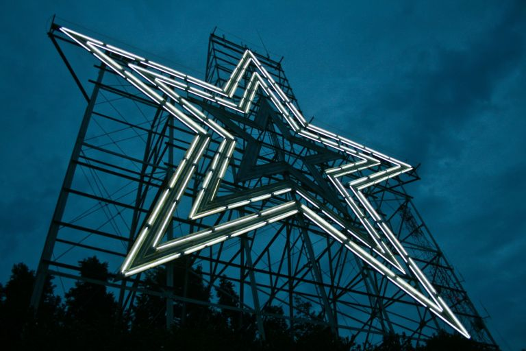 The Roanoke Star is said to be the world's largest freestanding man-made illuminated star.
