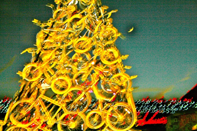 Bike sculpture by John Meola.