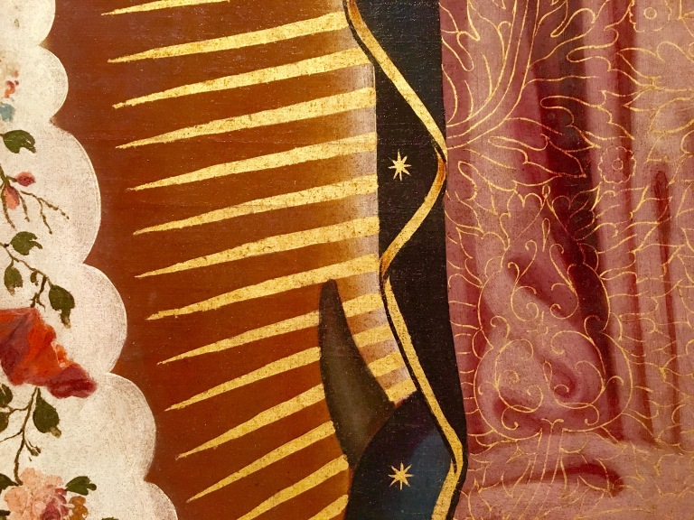 Detail: Virgin of Guadalupe, Luis Berrueco, mid-18th century